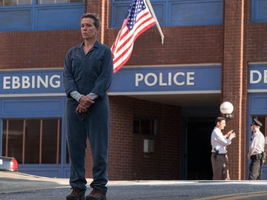 """Mildred (Frances McDormand) wants justice in """"Three Billboards Outside Ebbing, Missouri."""""""