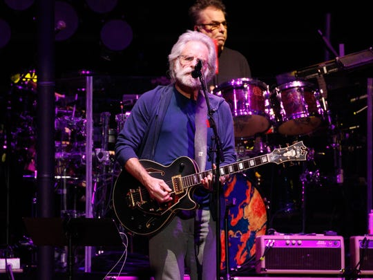 Bob Weir, a founding member of The Grateful Dead, performs with Dead & Company Friday night at Little Caesars Arena in Detroit.