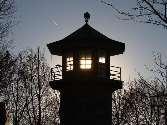 An unused old Sing Sing guard tower at Louis Engel Waterfront Park in Ossining Nov. 29, 2017.