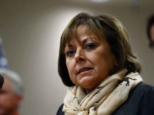 New Mexico Gov. Susana Martinez speaks during a press