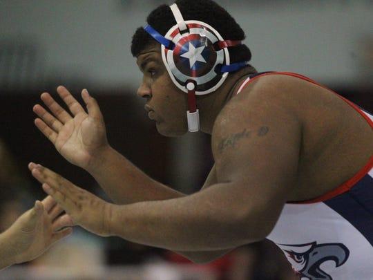 Wakulla's Darius Wilkins wrestles during Saturday's