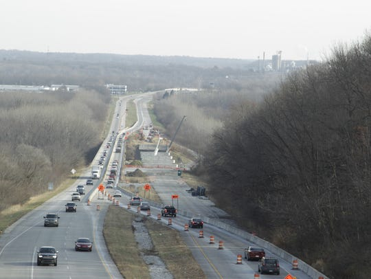 The Sagamore Parkway bridge over the Wabash River will