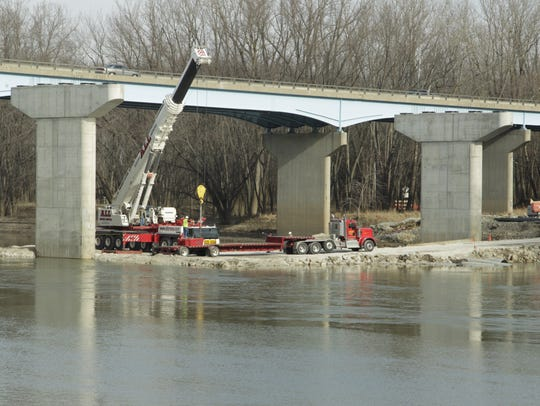 The Sagamore Parkway eastbound bridge over the Wabash River is going through construction until this summer.