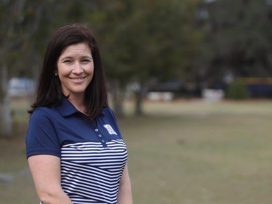Maclay boys golf coach Stephanie McCann is the 2017