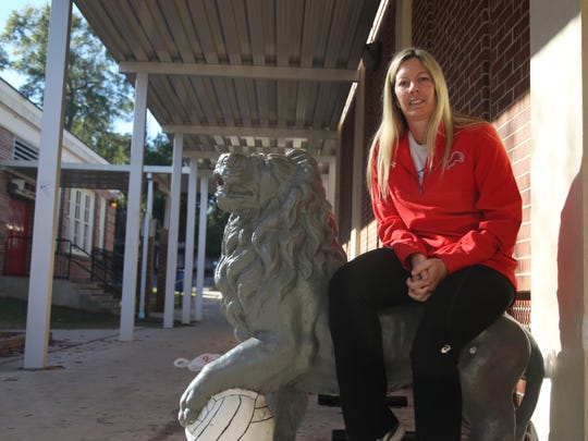 Leon volleyball coach Angie Strickland was named the