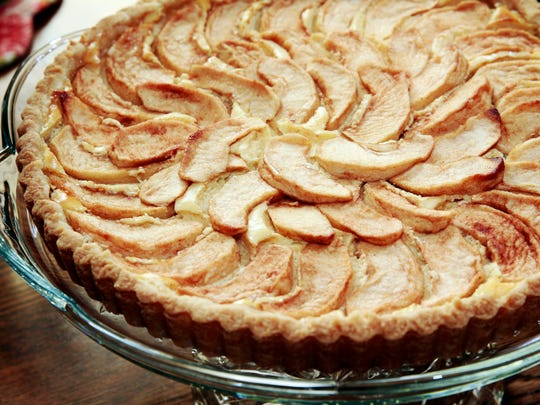 Bavarian Apple Cake is as pretty as it is delicious.