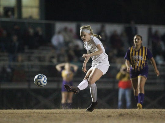 Maddie Powell and the Leon Lions girls soccer team beat Lake City Columbia on Wednesday in a District 2-4A semifinal.