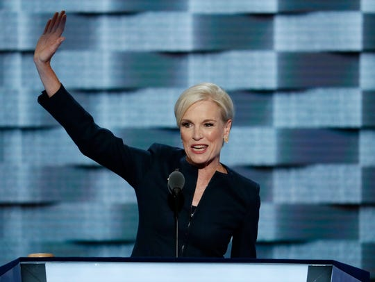 Planned Parenthood President Cecile Richards waves