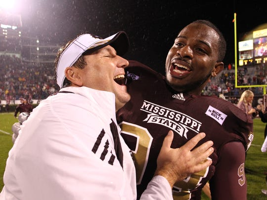 Then-Mississippi State head football coach Dan Mullen