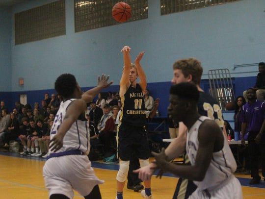 Aucilla Christian's Tima Finlayson fires a 3-pointer
