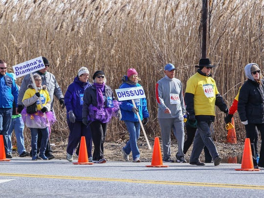 Thousands of people take part in the fifth atTAcK Addiction 5K run or walk Saturday, Mar 03, 2018, at St. Peter's Church in New Castle, DE