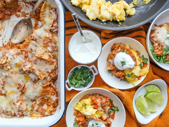 Chilaquiles from One Potato.