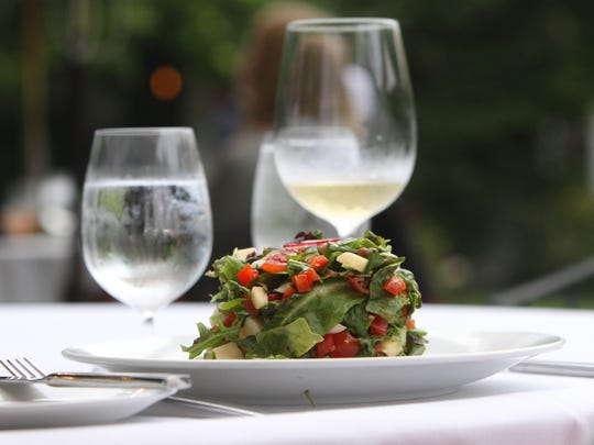 A salad at Crabtree's Kittle House