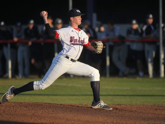 Wakulla senior Brad Lord pitches against Arnold.