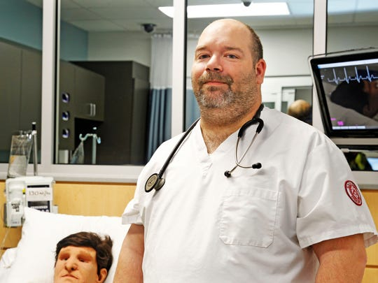 Brian Smith, a former emergency medical technician in Kenosha, is a nursing student at Gateway Technical College in a fast-track program that partners with Cardinal Stritch University.