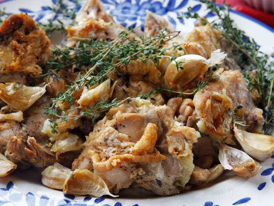 This variation on chicken with 40 cloves of garlic