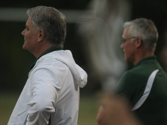 Lincoln head coach Mark Williams and assistant coach