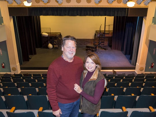 Tom and Kathy Vertin are among Marine City's new movers and shakers. They opened the Snug Theatre in 2013, and later the Riverbank Theatre. On Wednesday, April 18, 2018, Kathy announced they received a $1 million challenge grant to help renovate the old St. Clair Middle School and expand their Performing Arts Academy, as part of a $5 million campaign to start a theater festival in the area.