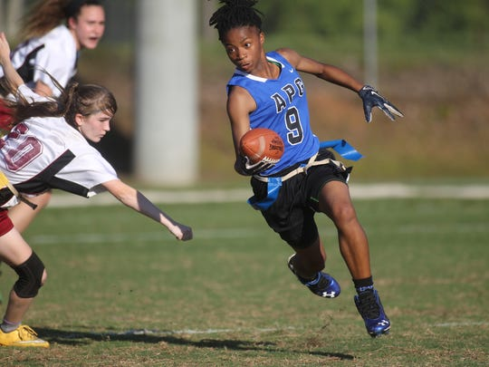 Godby's Toni McClain gets the edge on a punt return