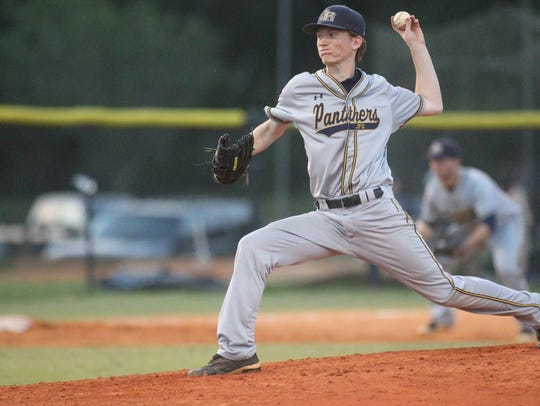 St. John Paul II junior Joey Silvestri pitches against