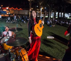 Giselle Woo and the Night Owls perform at Tachevah 2018 on May 5th in Indio.