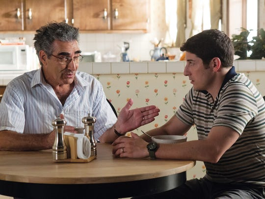 """Eugene Levy and Jason Biggs have a heart-to-heart talk in """"American Reunion."""""""
