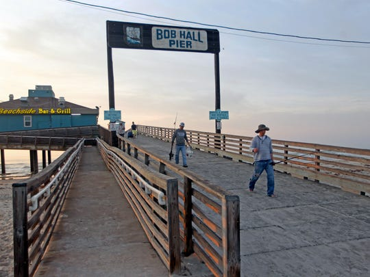 Bob Hall PIer within Padre Balli Park rents fishing
