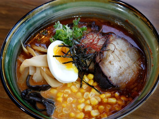 Spicy miso ramen, from Hungry Sumo.