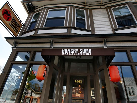 The building housing Hungry Sumo Sushi Bar  + Asian