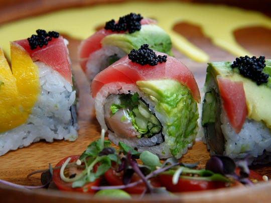 The La Fiesta roll at Hungry Sumo, shown here with