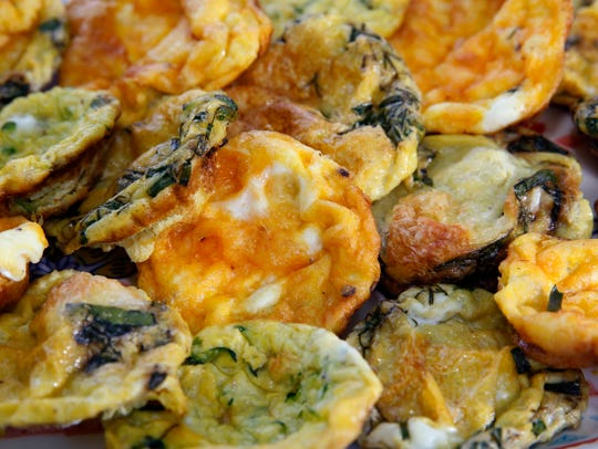 Egg muffins can be customized with different veggies