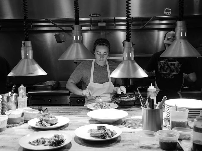 The dinner rush at Heirloom in Lewes is an orchestrated
