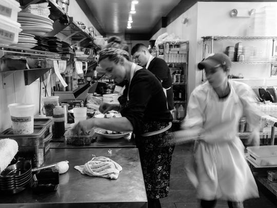 The dinner rush at Heirloom in Lewes is an orchestrated marathon of food runners, line cooks, expediters, servers and dishwashers working cohesively for the purpose of nourishing people with good food.