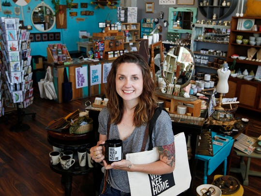 Steph Davies, the new owner of MilwaukeeHome, owns The Waxwing art and gift shop.