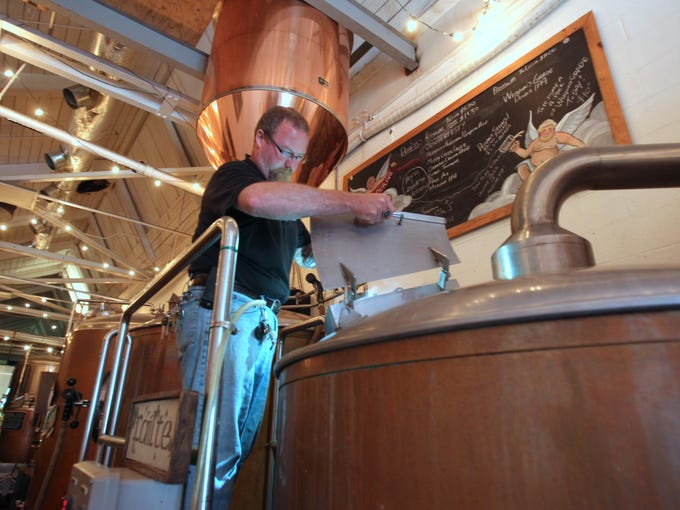 "Tom ""Woody"" Woods, a brewer at the Defiant Brewery"