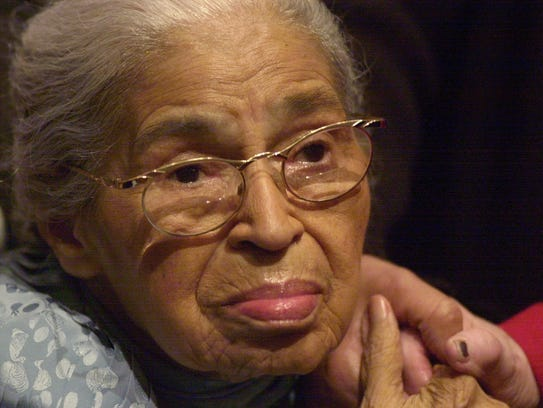 In this Dec. 1, 2001, file photo, civil rights pioneer