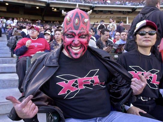 San Francisco Demons fan Mark Looney, from Pleasant