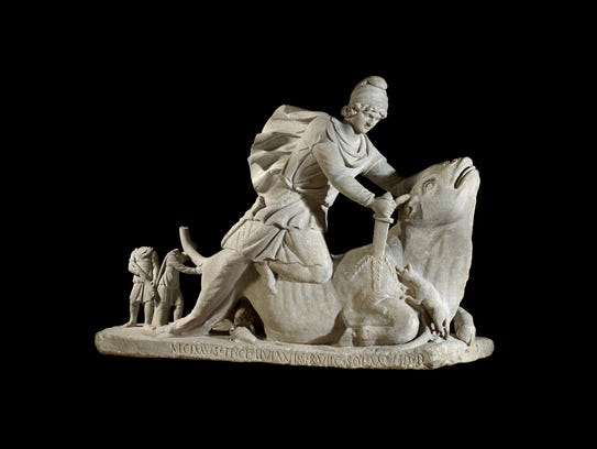 Statue of Mithras slaying a bull (Italy), 2nd century