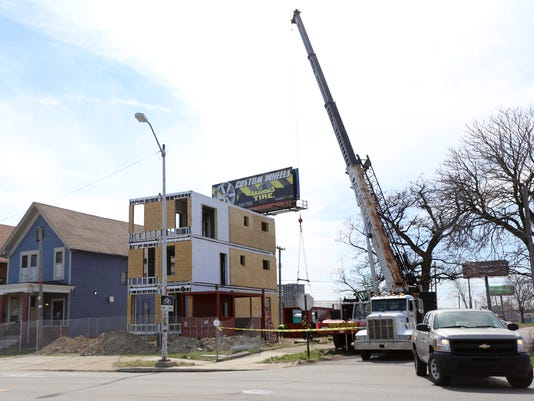 The shipping container project in North Corktown
