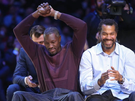 Ben Wallace and Rasheed Wallace were introduced before