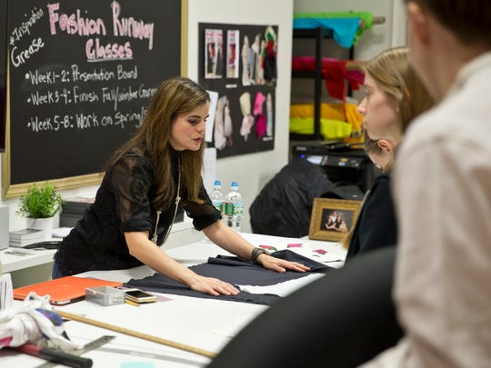 Karen Lozner, owner of Karen's School of Fashion, teaches
