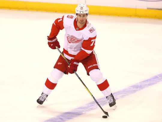 Kris Draper sees the making of a great Red Wing in 21-year-old Dylan Larkin.
