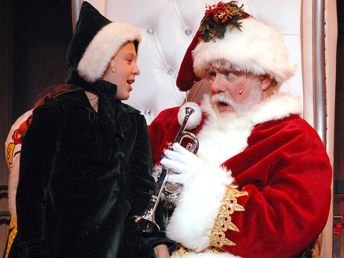 Henrika (Molly Hunsberger) and Kris Kringle aka Santa