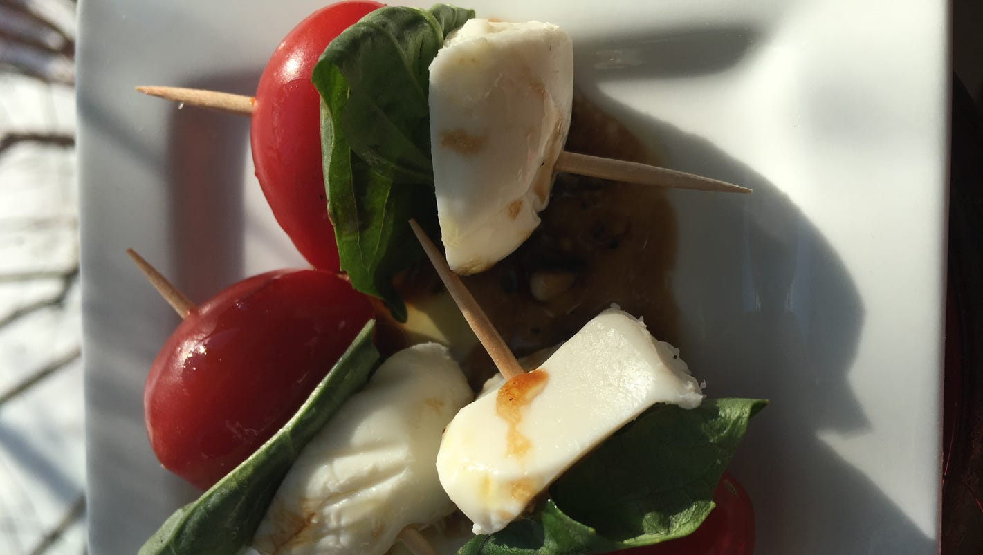 Caprese bites are quick and easy appetizers to ring in the New Year