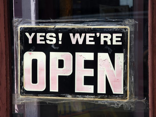 SIGN Yes were open