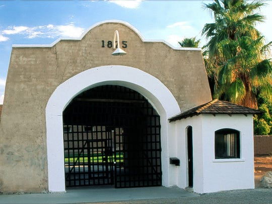 The front gate at the Yuma Territorial Prison State