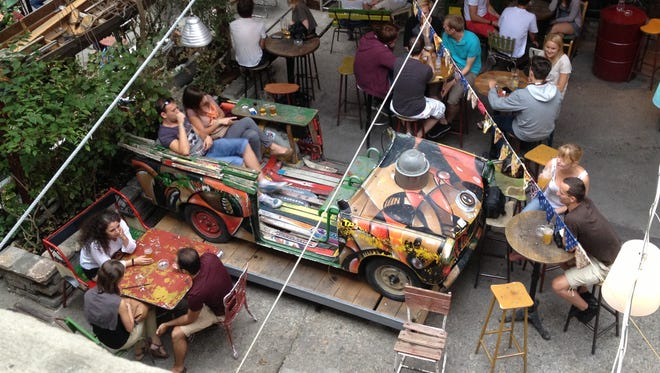 "The Szimpla Kert ""ruin pub"" in Budapest's seventh district helped kick-start a renaissance of the neighborhood."