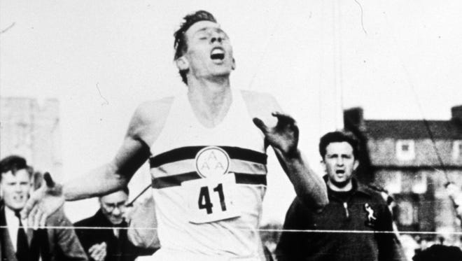 Roger Bannister breaks the 4-minute mile in 3 minutes, 59.4 seconds on May 6, 1954.