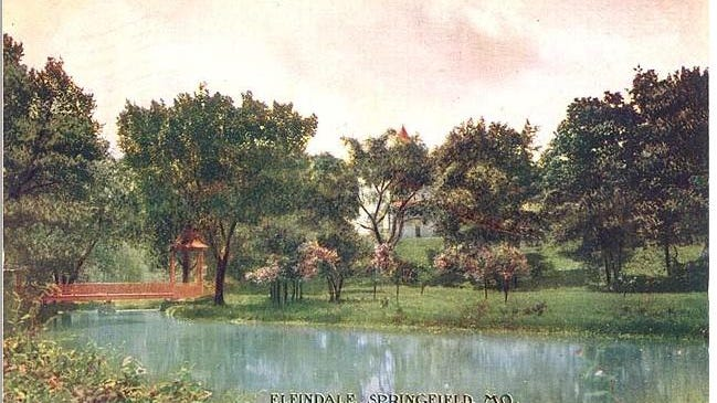 The Elfindale Estate is shown in an antique postcard.