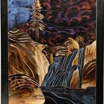 """""""Glimpses of our souls appear when we create art,"""" says painter Dawn Sievers. """"That is magic."""" Seivers' painting on silk appear during the First Friday Art Walk Oct. 2."""